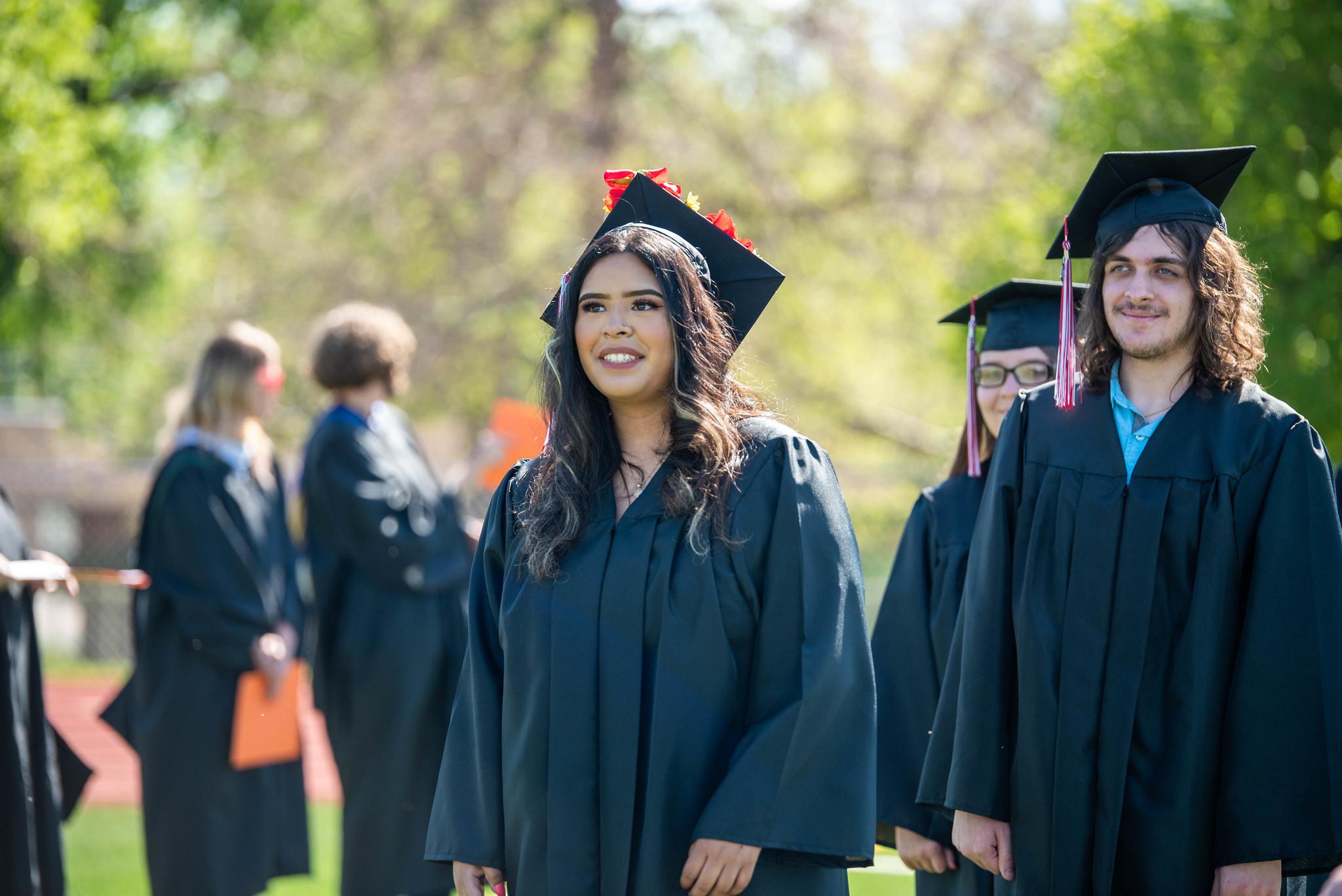students at graduation